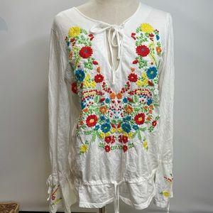 Victoria's secret Top blouse white embroidered